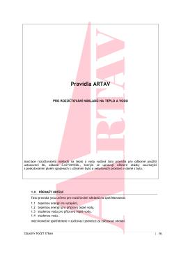 Pravidla ARTAV