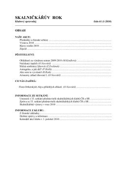 Zpravodaj č. 61 - Klub skalničkářů Brno