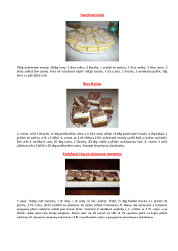Tvarohový koláč Řezy Florida Pudinkové řezy se