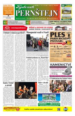 Vydání Týdeníku Pernštejn z 02.03. 2015, č. 8