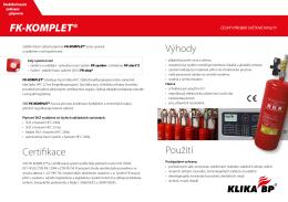 SHZ plynová - FK-KOMPLET - KLIKA