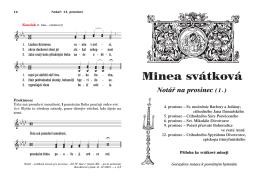 Minea svátková - Pravoslavi.cz