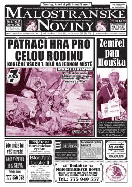Malostranske noviny - Malostranské noviny