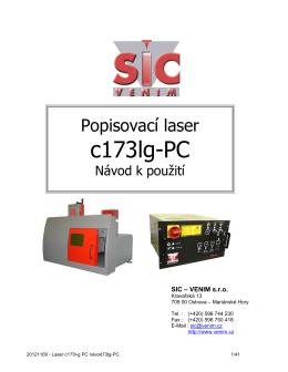 Pracovní stanice c173lg-PC - návod (CZ) - SIC