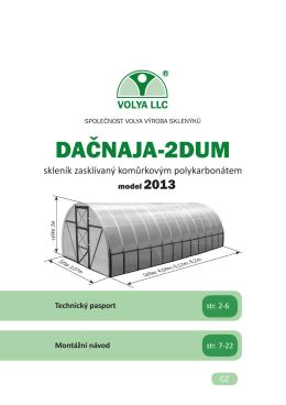 Skleník 2DUM - montážní návod