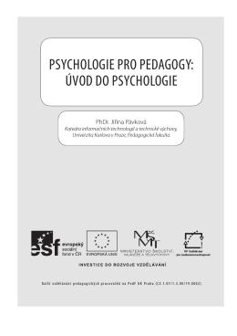 Psychologie Pro Pedagogy: Úvod do Psychologie