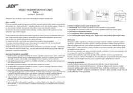 Návod k použití kouřového hlásiče Mh 14 výrobek č. 00235103