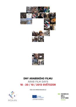 dny arabského filmu arab film days 18 - 20 / 10 / 2013