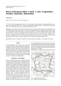 Brouci (Coleoptera) Žihle a okolí. 3. část. Trogositidae, Cleridae