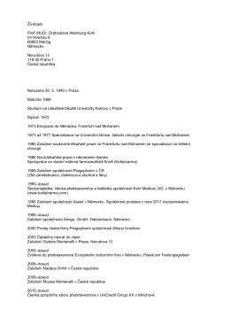 Životopis Prof. MUDr. Drahoslava Altenburg-Kohl Im