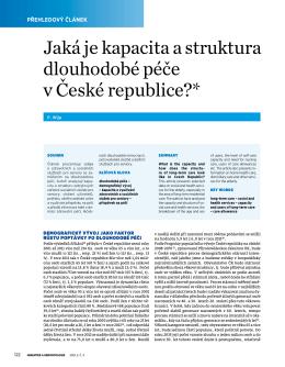 Jaká je kapacita a struktura dlouhodobé péče v České republice?*
