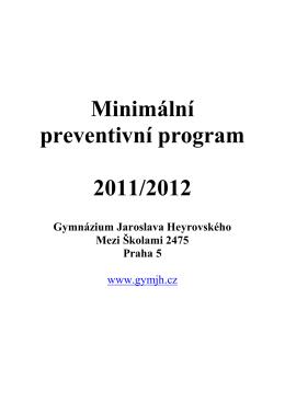 minimální preventivní program - Gymnázium Jaroslava Heyrovského