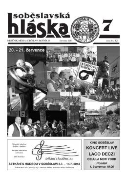 Červenec 2013 - Město Soběslav