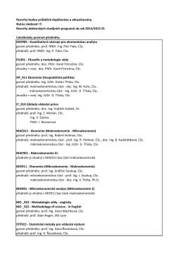 Rozvrhy doktorských studijních programů ak.rok 2
