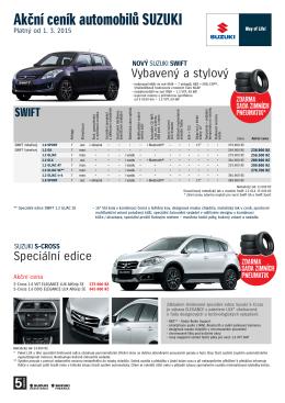 Akční ceník automobilů SUZUKI