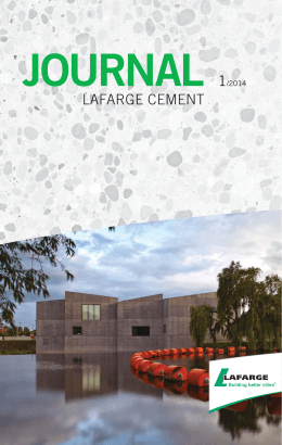 journal 1/2014 - Lafarge Cement a.s.