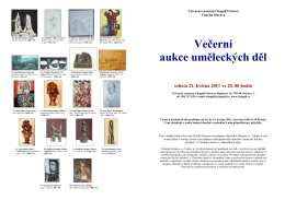 aukční katalog - Charita Ostrava
