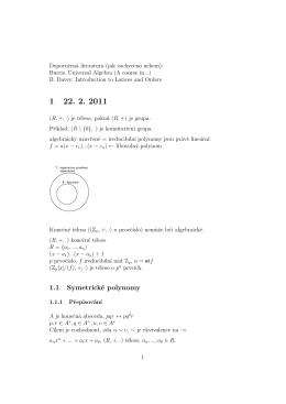 1.1 Symetrické polynomy - algebra2fi