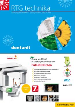PaX-i3D Green - DENT UNIT, sro