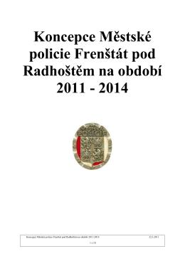 Koncepce Městské policie Frenštát pod Radhoštěm na období 2011