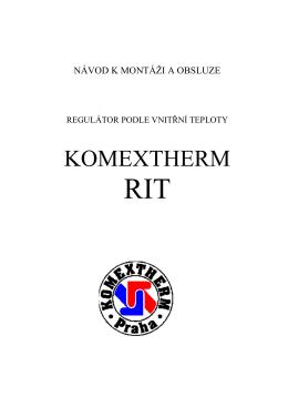 (REGULÁTOR RIT) - KOMEXTHERM Praha spol. s ro