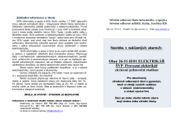 Podrobné informace. - Střední odborná škola informatiky a spojů a