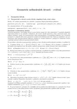 Geometrie nelineárních útvarů – cvičení