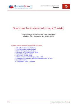 Souhrnná teritoriální informace Tunisko