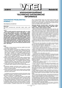 5/2010 - Výzkumný ústav vodohospodářský T. G. Masaryka