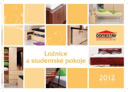 Ložnice a studentské pokoje