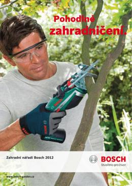Katalog zahradní techniky BOSCH