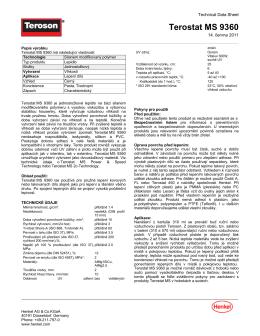 Technický list Teroson Terostat MS 9360
