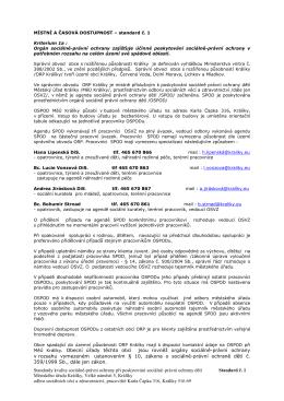 Standardy kvality sociálně-právní ochrany při poskytování