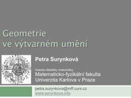 přednáška (.pdf) - RNDr. Petra Surynková, Ph.D.