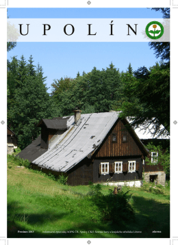 Upolín 2013 - Nadace pro záchranu a obnovu Jizerských hor