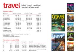 Jediný časopis zaměřený na praktické cestování