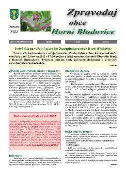 zpravodaj červen.cdr - Obec Horní Bludovice