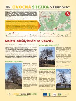 Krajové odrůdy hrušní na Opavsku