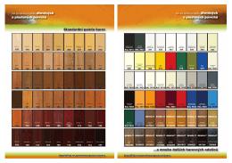 Standardní paleta barev ...a mnoho dalŠích barevnÝch odstínŢ