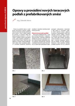 Opravy a provádění nových teracových podlah z prefabrikovaných