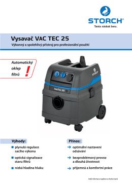 Vysavac VAC TEC 25
