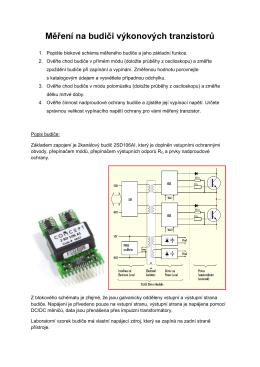 Měření na budiči výkonových tranzistorů