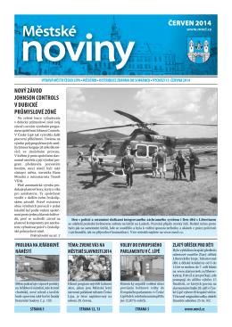 6/2014 Červen - Městské noviny Česká Lípa