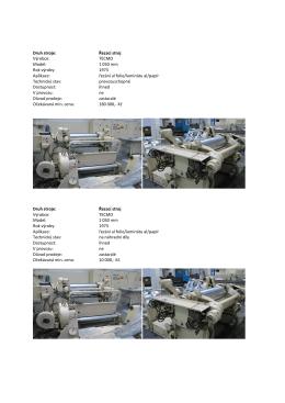 (Nabídka prodeje neupotřebitelných strojních zařízení AL INVEST