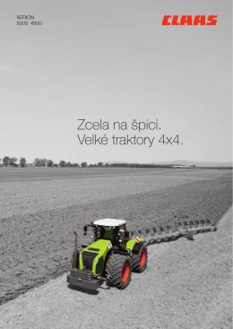 Zcela na špici. Velké traktory 4x4.