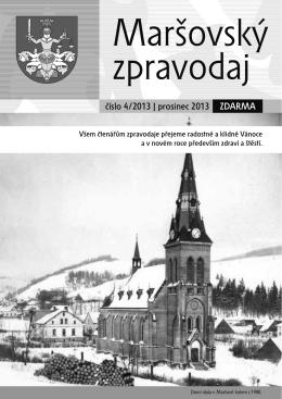 Maršovský zpravodaj 4-2013