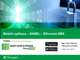 Babel - Smart Cards & Devices Forum 2013