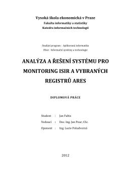 analýza a řešení systému pro monitoring isir a vybraných registrů ares