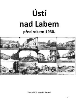 Ústí nad Labem před rokem 1930.