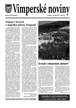 2012 - Město Vimperk